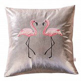 Oasis Flamingo Metallic Cushion Metallic Pink