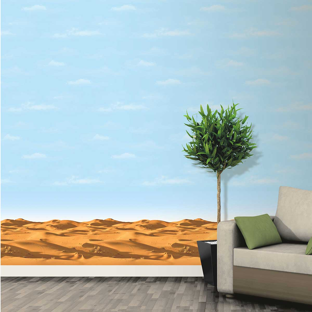 SK Filson Clouds in the Sky Border Blue - Product code: SK10047