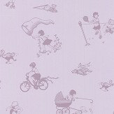 PaperBoy General Miss Chief Heather  Wallpaper - Product code: GMC/WP/Heather