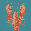 Brian Yates Lobster Teal Wallpaper
