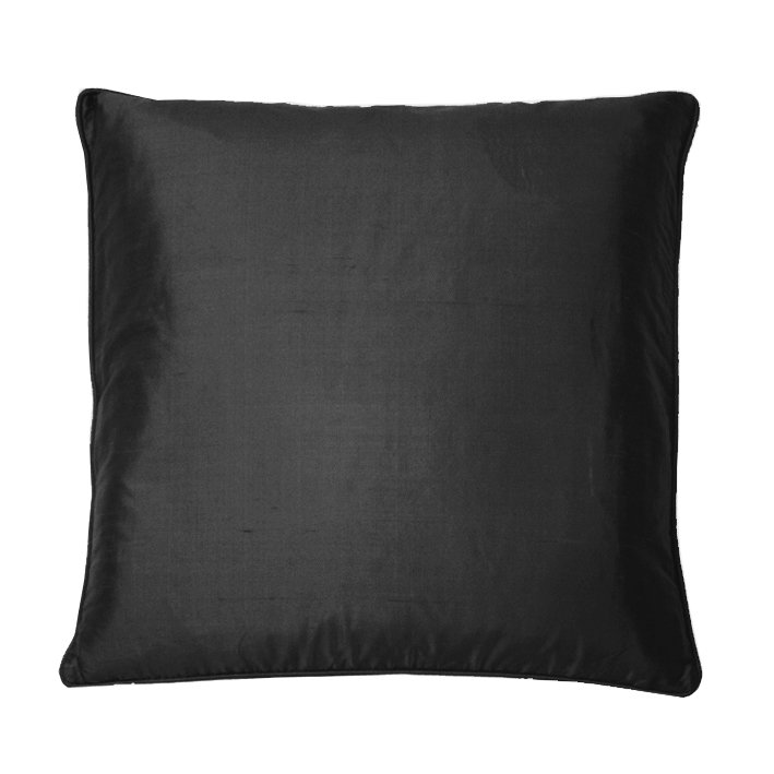 Silk Cushion - Black  - by Kandola