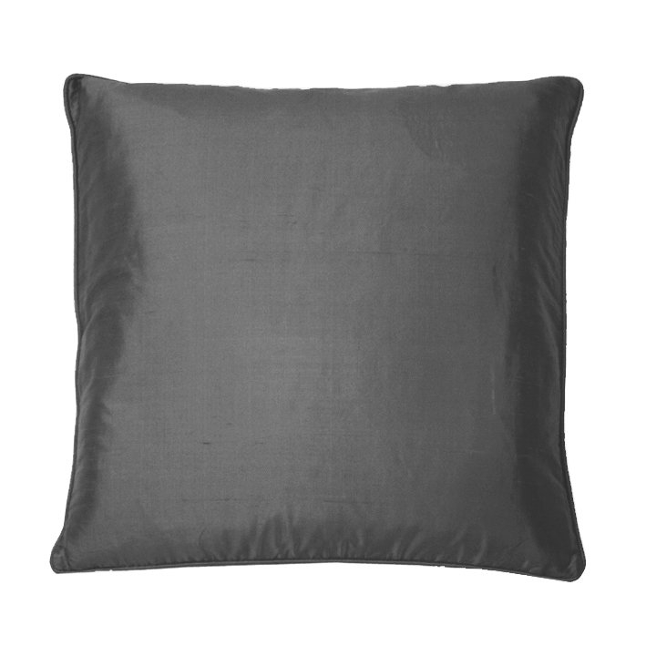Silk Cushion - Gunmetal Grey - by Kandola