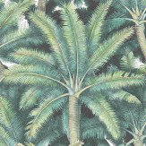 Vilber Palms Green Wallpaper