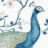 Vilber Peacock Blues Wallpaper - Product code: PEACOCK 151 W-01