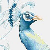 Vilber Peacock Blue Wallpaper