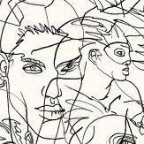 Jean Paul Gaultier Croquis Black / Ecru Wallpaper