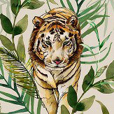 Graduate Collection Tiger Tiger Cream Wallpaper