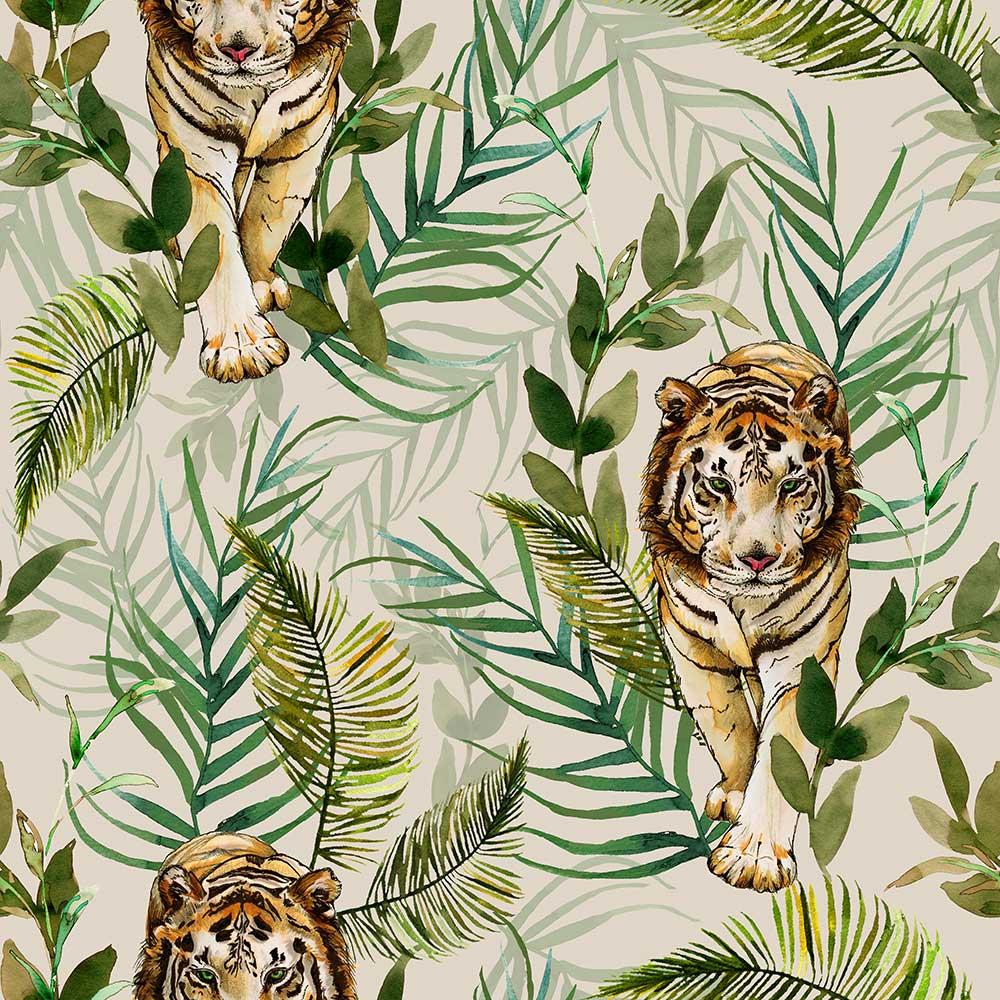 Graduate Collection Tiger Tiger Cream Wallpaper main image