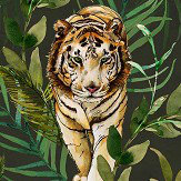 Graduate Collection Tiger Tiger Green Wallpaper
