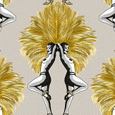 Graduate Collection Showgirls Mustard / Taupe Wallpaper - Product code: MS1SGWALTAUM