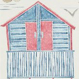 Sanderson Beach Huts Nautical Wallpaper