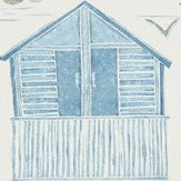 Sanderson Beach Huts Marine Wallpaper - Product code: 216560