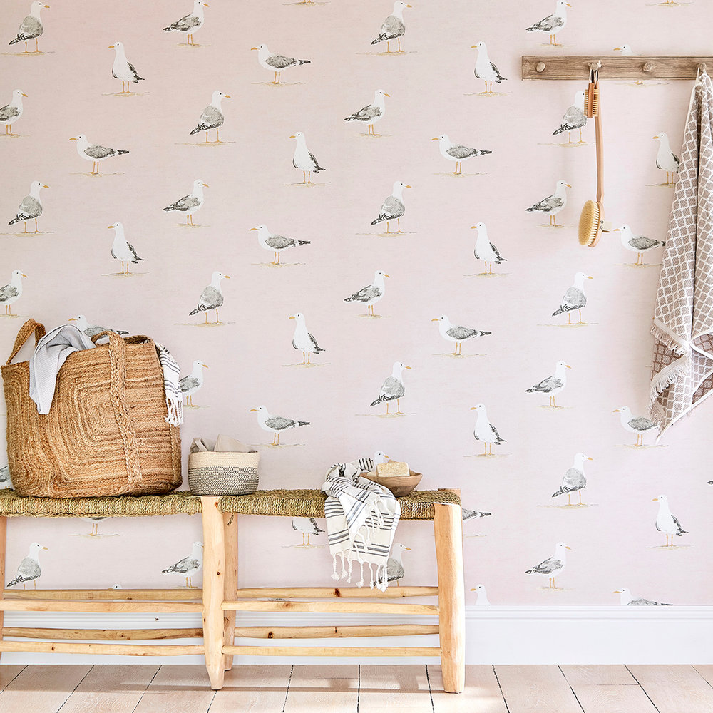 Sanderson Shore Birds Blush Wallpaper extra image