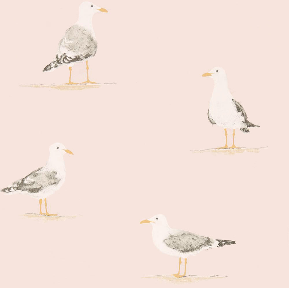 Sanderson Shore Birds Blush Wallpaper main image