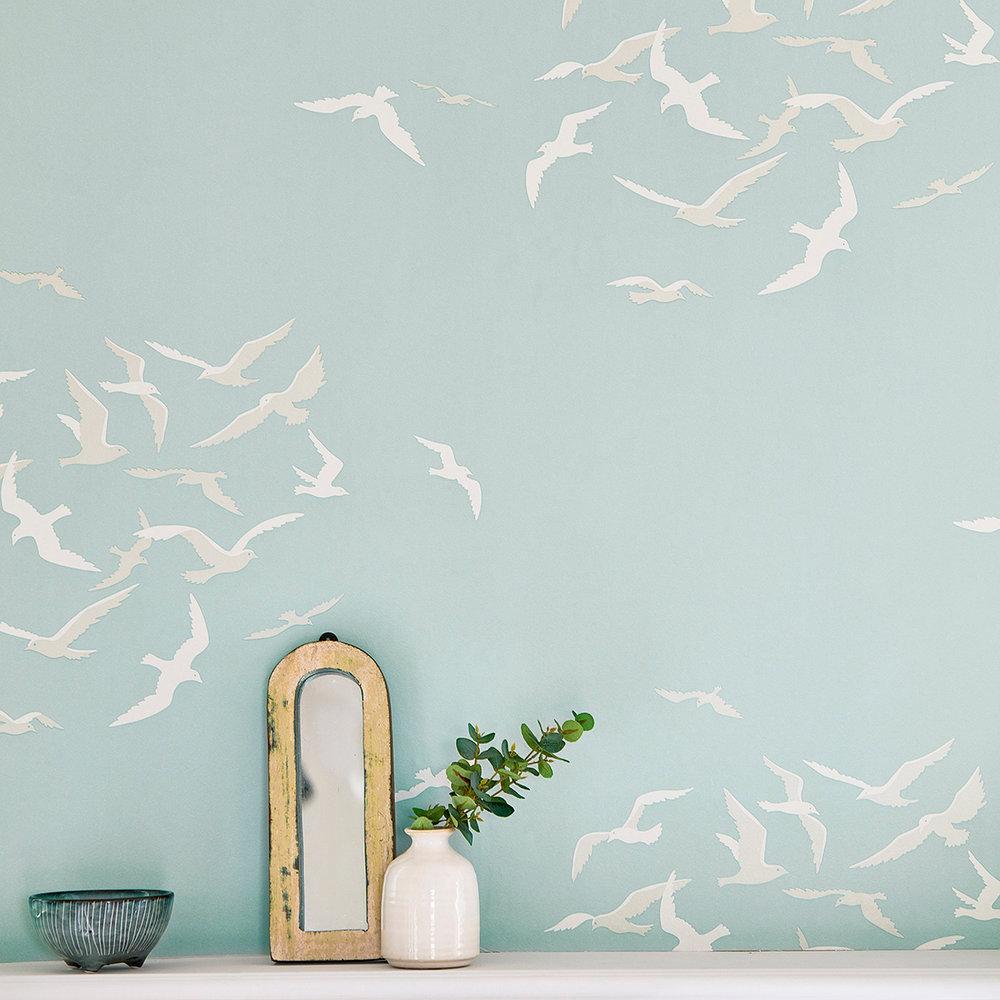 Larina Wallpaper - Sky - by Sanderson