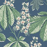Boråstapeter Chestnut Blossom Blue Wallpaper