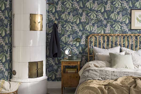 Boråstapeter Chestnut Blossom Blue Wallpaper - Product code: 7201