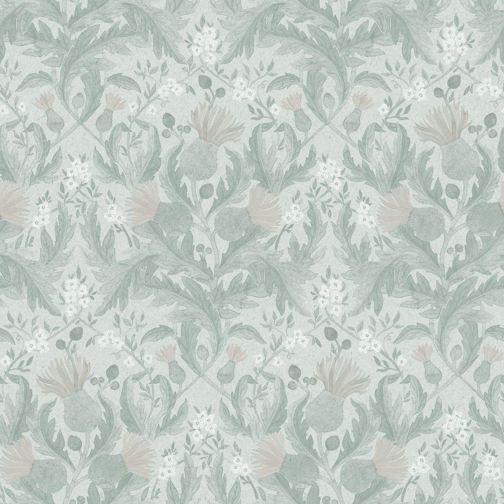 Boråstapeter Thistle Soft Green Wallpaper - Product code: 7205