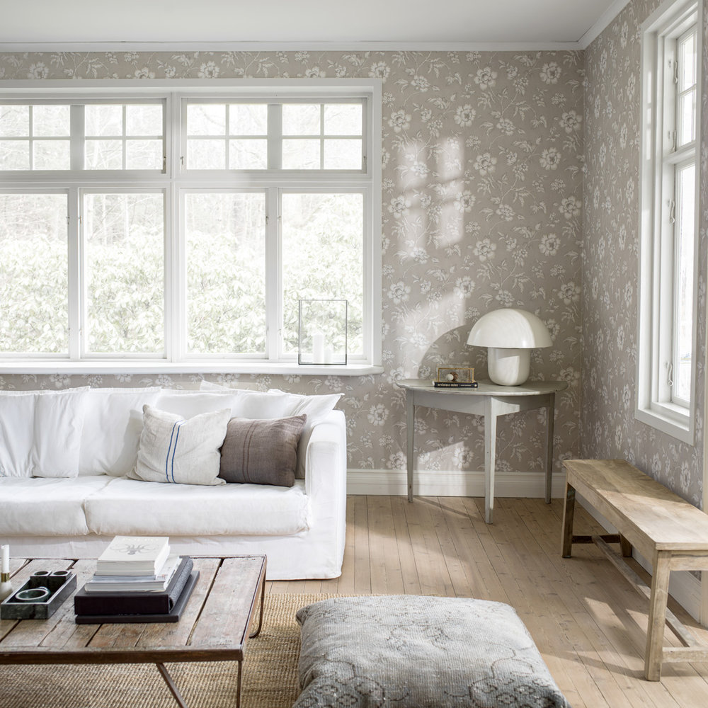 Boråstapeter Camille Grey Wallpaper - Product code: 7206