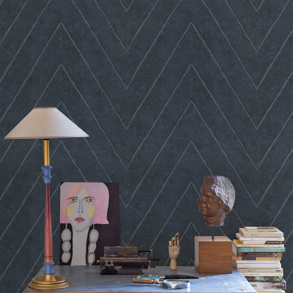 Coordonne Camus Dark Blue Wallpaper - Product code: 7000001