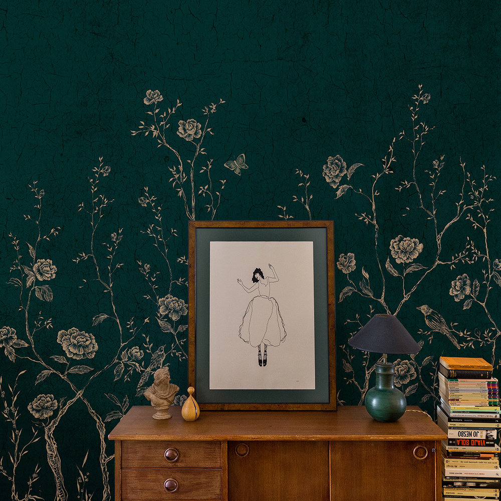 Coordonne Chinoiserie Green Mural - Product code: 7000071