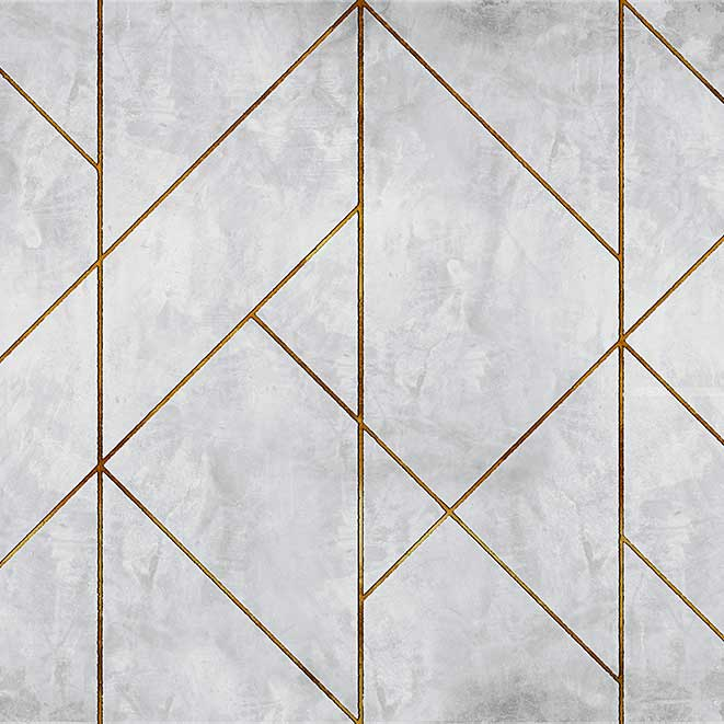 Geometric Concrete By Coordonne Gold Wallpaper Direct