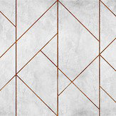 Coordonne Geometric Concrete Copper Mural - Product code: 7000073