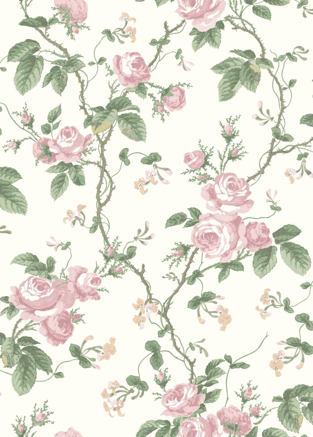 French Roses By Borastapeter Pink Wallpaper 7212