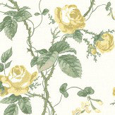 Boråstapeter French Roses Yellow Wallpaper