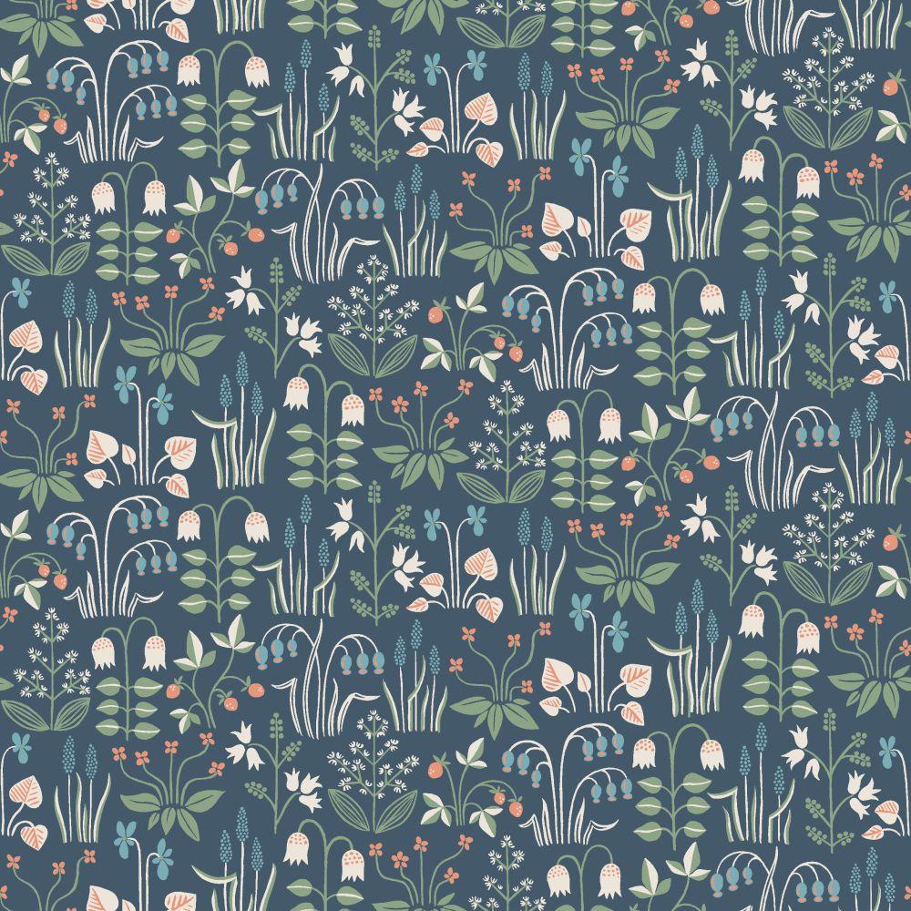 Boråstapeter Strawberry Field Blue Wallpaper - Product code: 7215