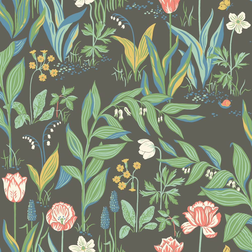 Boråstapeter Spring Garden Black  Wallpaper - Product code: 7219