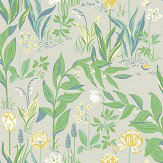Boråstapeter Spring Garden Green Wallpaper - Product code: 7220