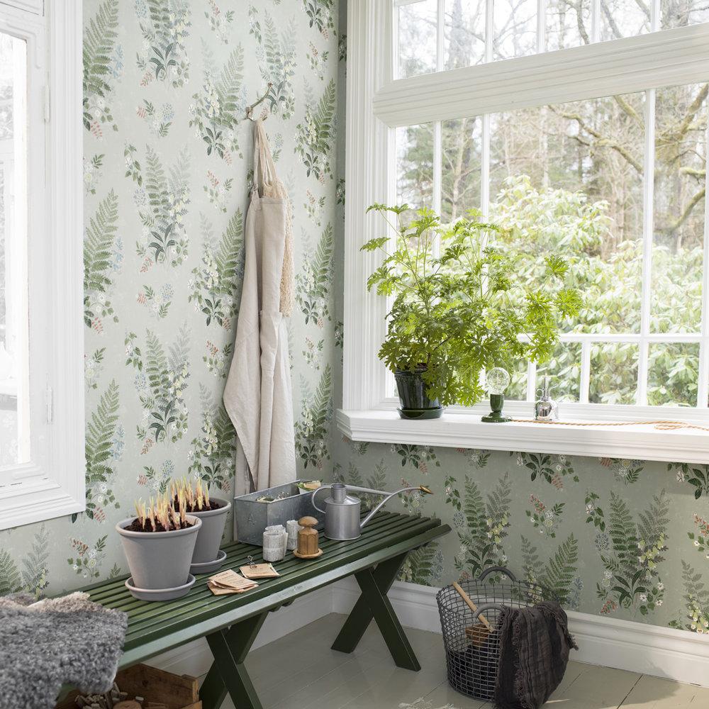 Boråstapeter Foxglove Green Wallpaper - Product code: 7221