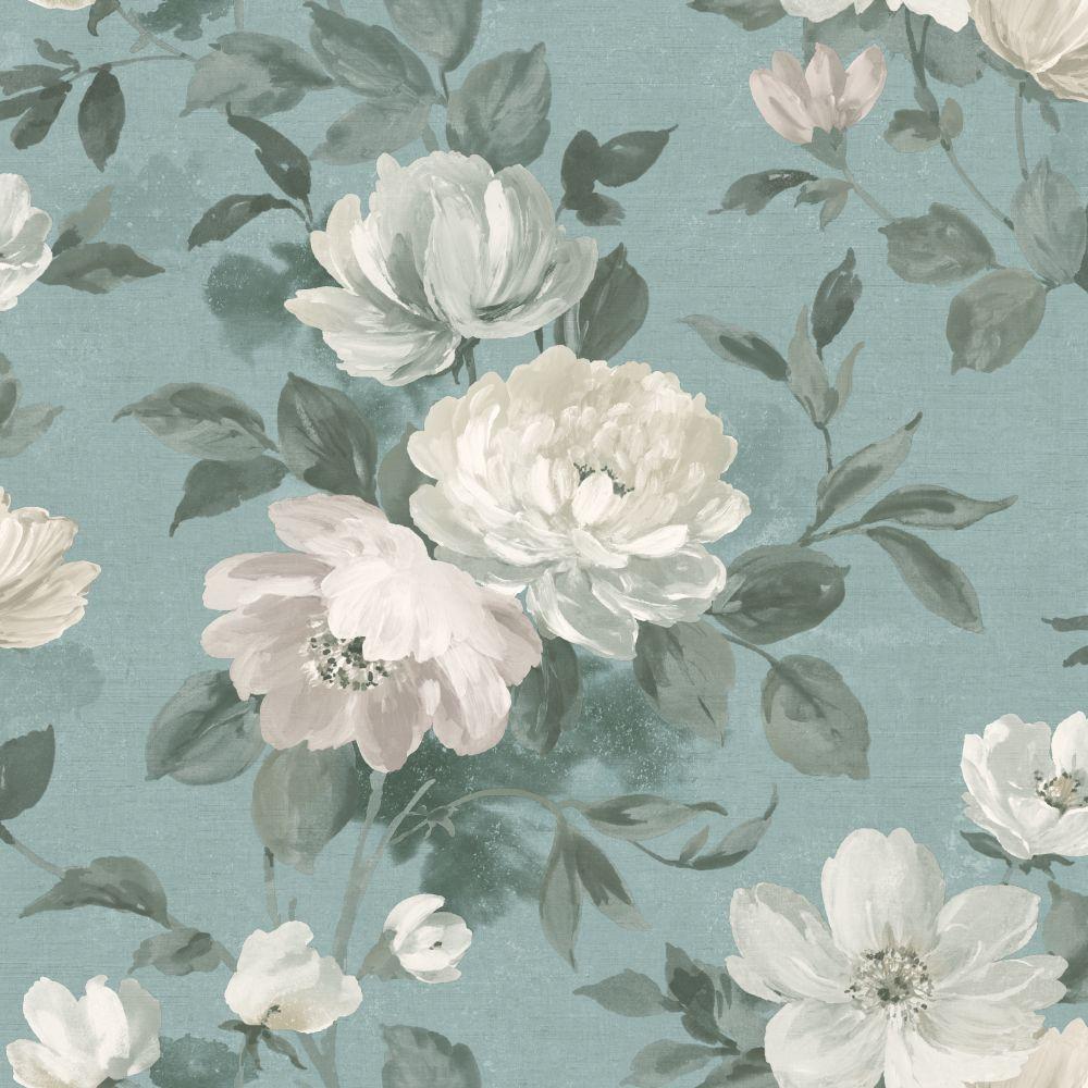 Boråstapeter Peony Blue Wallpaper - Product code: 7223