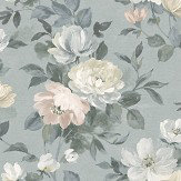 Boråstapeter Peony Blue Wallpaper - Product code: 7224
