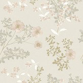 Boråstapeter Prairie Rose Grey Wallpaper