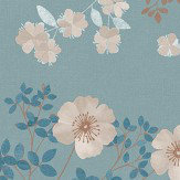 Boråstapeter Prairie Rose Blue Wallpaper