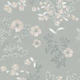 Boråstapeter Prairie Rose Silver Wallpaper - Product code: 7233