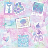 Holden Decor Be More Mermaid Glitter Multi Wallpaper