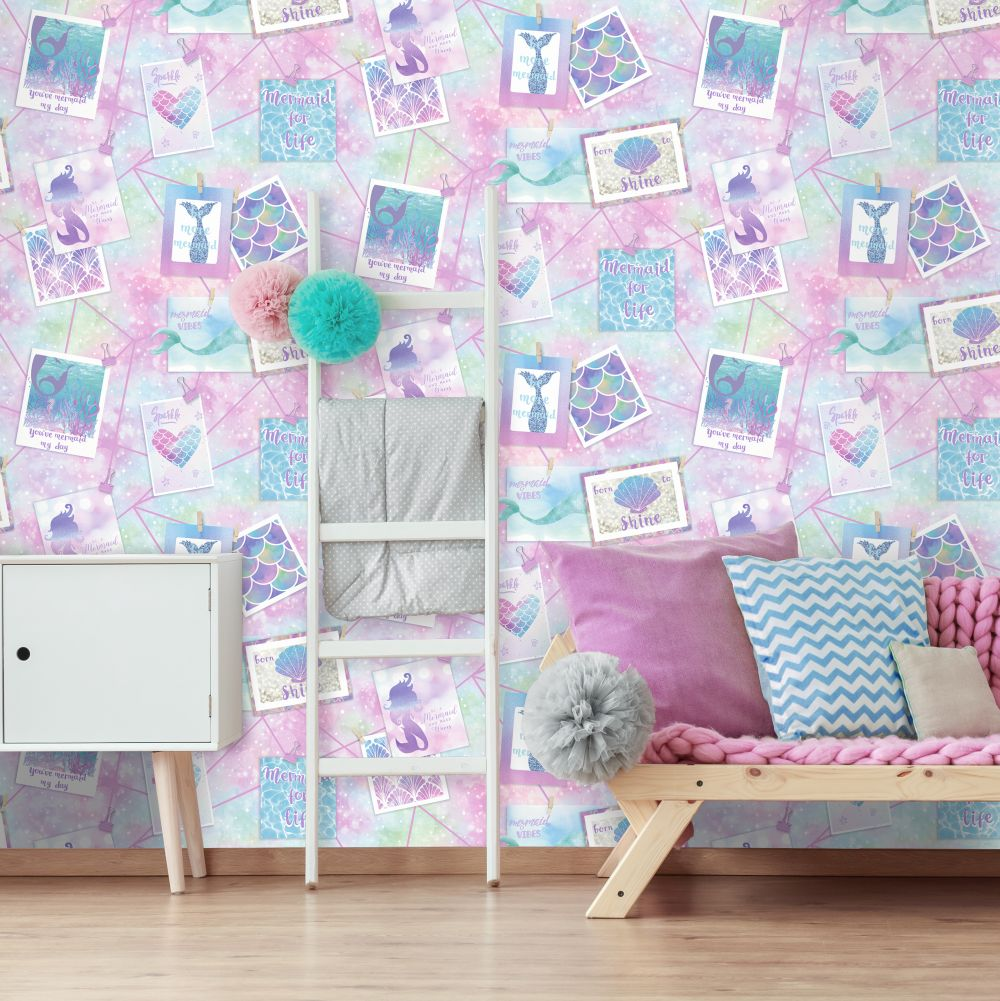 Holden Decor Be More Mermaid Glitter Multi Wallpaper - Product code: 12790