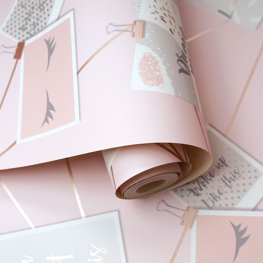 Dream Lashes Wallpaper - Pink - by Holden Decor