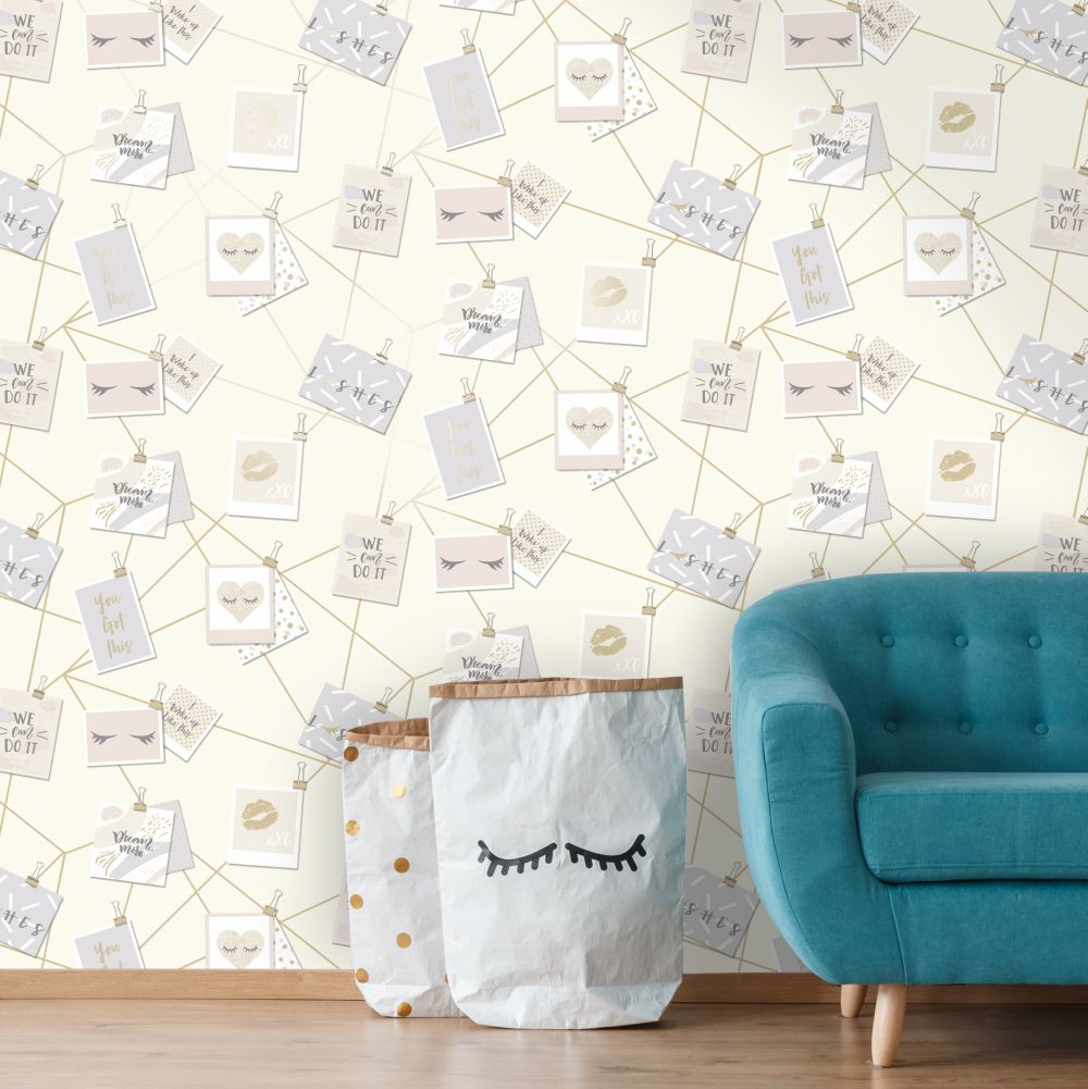Dream Lashes Wallpaper - Cream - by Holden Decor