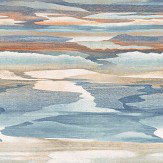 Jane Churchill Cloudscape Blue/ Copper Wallpaper