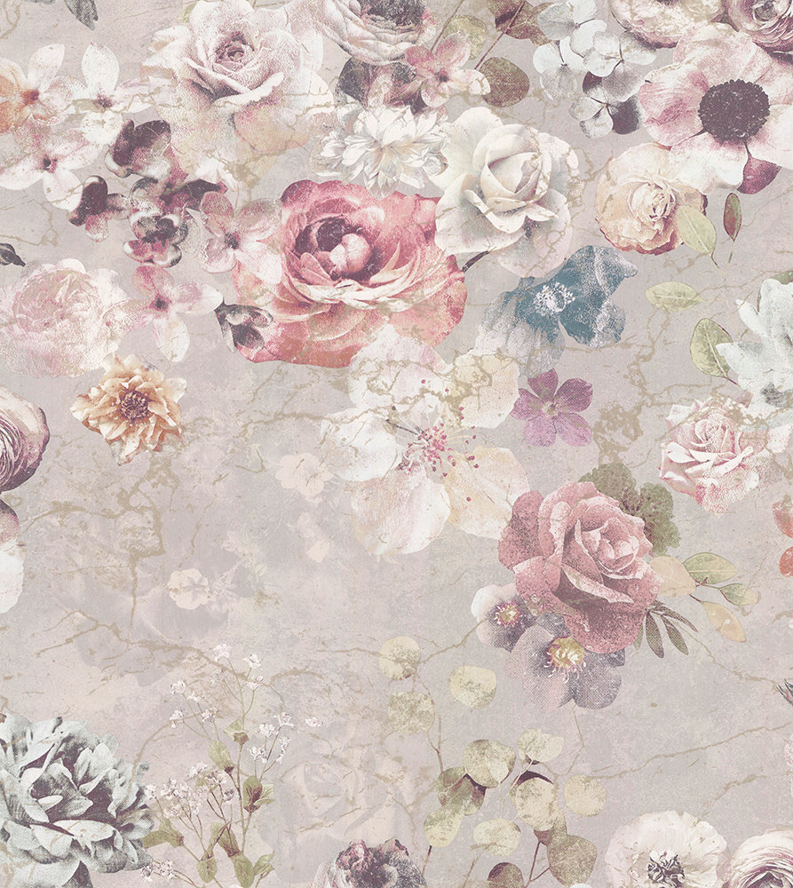 Jane Churchill Marble Rose Pearl Wallpaper main image