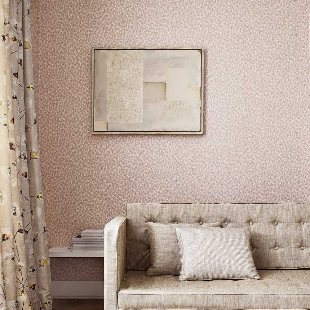 Jane Churchill Batali Pink Wallpaper extra image