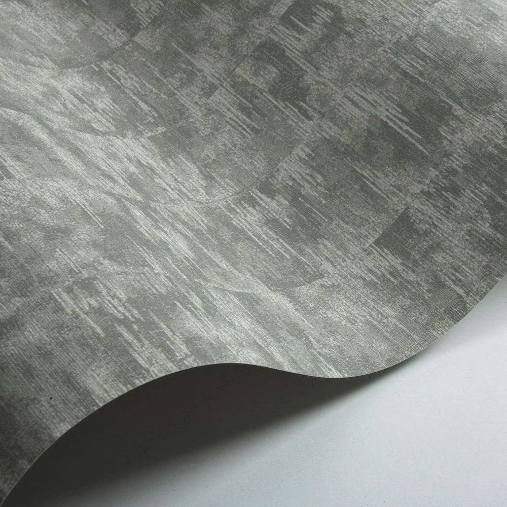 Morosi Wallpaper - Silver - by Jane Churchill