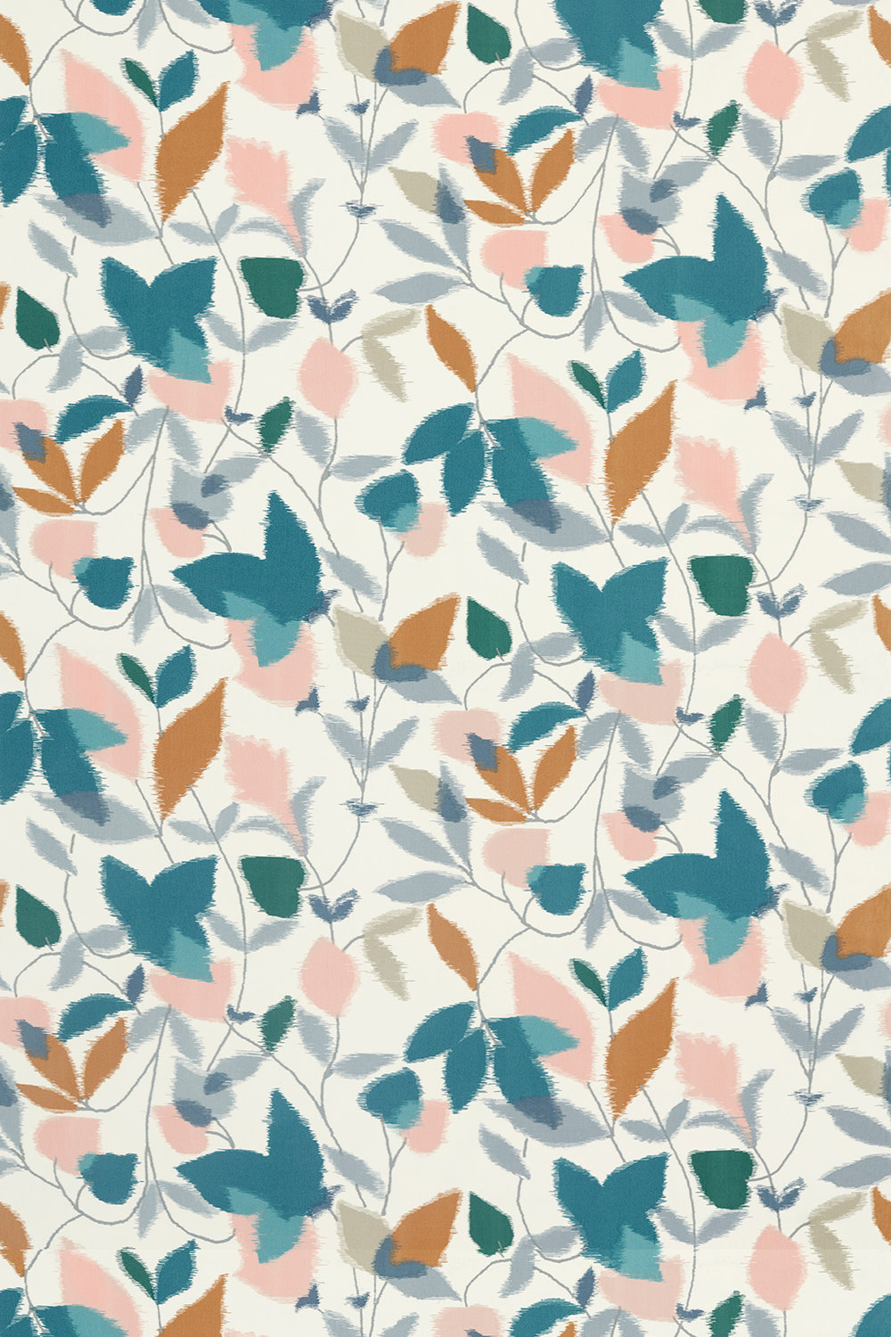 Akira Fabric - Ginger / Teal / Olive - by Scion