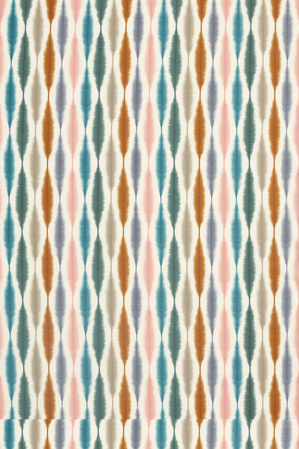 Usuko Fabric - Olive/ Ginger / Teal - by Scion