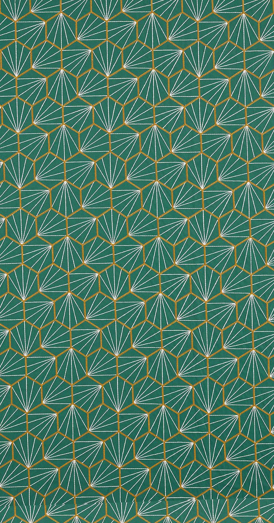 Aikyo Fabric - Teal - by Scion