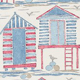 Sanderson Beach Huts Nautical Fabric